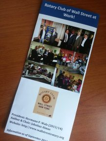 Rotary Club of Wall Street Brochure September 2013
