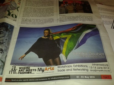 Art Meets Fashion Newspaper Coverage / May 2014