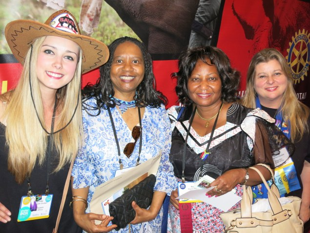 Advocating for 'Save The Rhino' Anti-Poaching cause at the Rotary International Convention in Portugal 2013