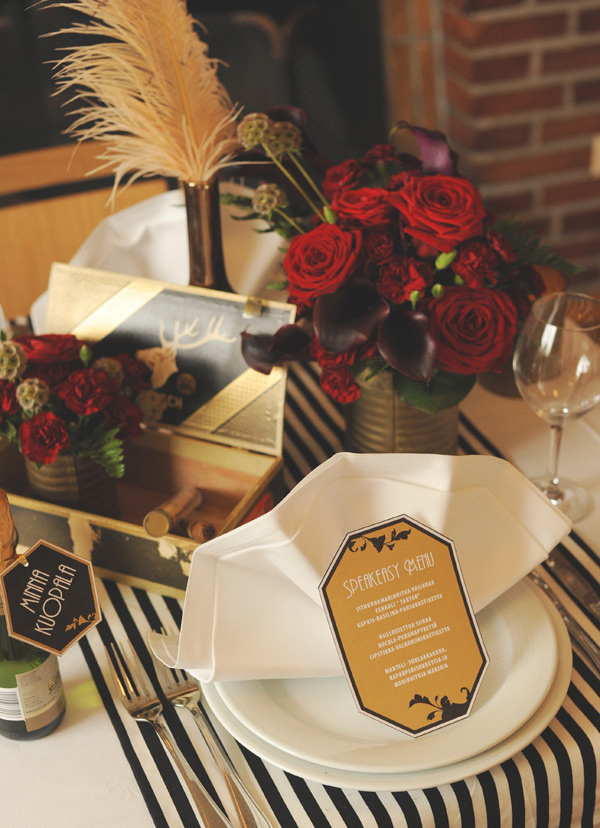 Great Gatsby Table Setting Themed Party & Great Gatsby Table Setting Themed Party   The Starlit Path
