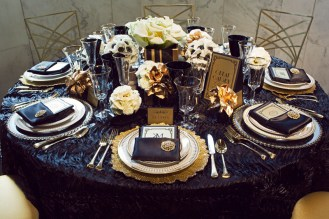 Great Gatsby Table Setting Themed Party