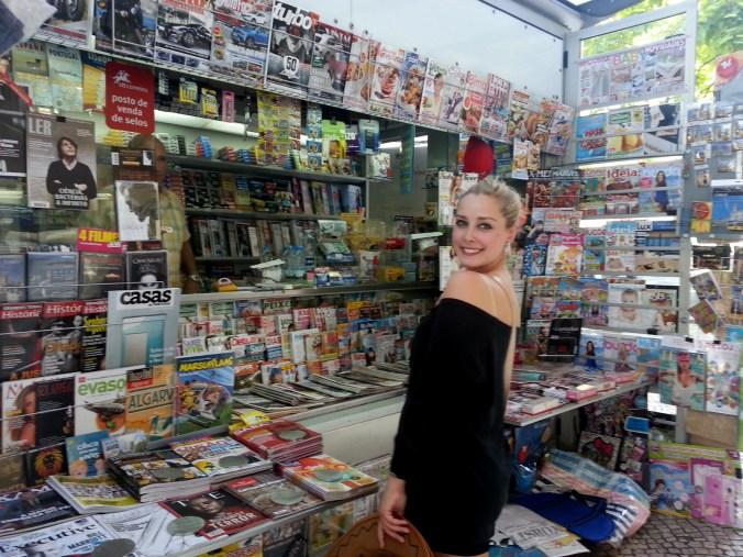 newspaper stand lisbon