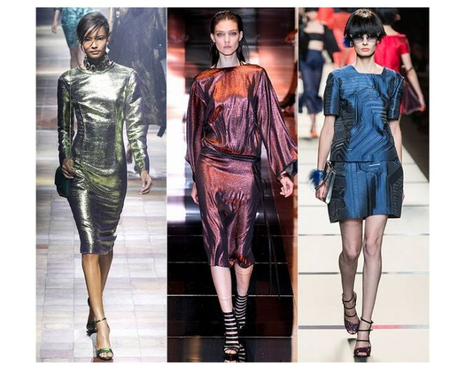 Metallic Fashion Trend SS14: Lanvin, Gucci, Fendi
