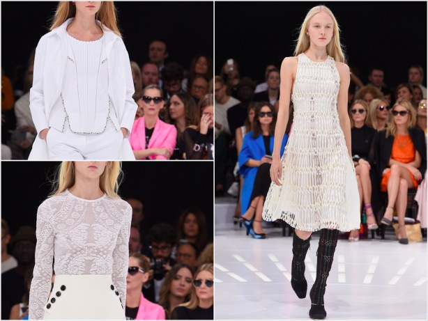 Textured Whites Fashion Trend SS15, Dior, Paris Fashion Week