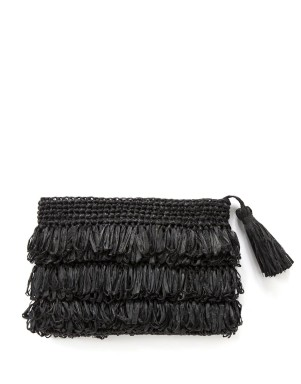 Country Road Fringed Raffia Clutch, Woolworths R399