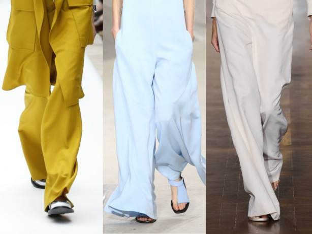 Wide Trousers + Culottes Fashion Trend SS15, Acne Studios, Kenzo, Stella McCartney, Paris Fashion Week
