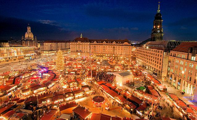 the Striezelmarkt or Striezel market dates back to 1434