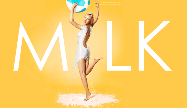 Pin Up Girls Milk Portraits  Jaroslav Wieczorkiewicz