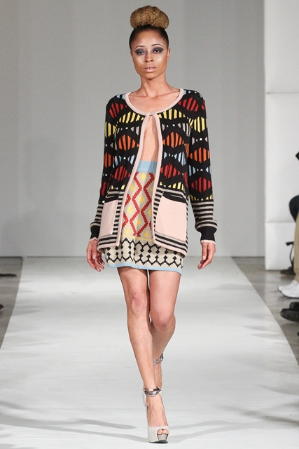 One of the South African designers who showed on the runway in 2014, Laduma Ngxokolo. Maxhosa by Laduma SS2015