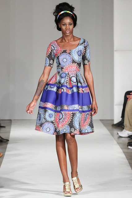 One of the South African designers who showed on the runway in 2014, Thula Sindi. SS2015