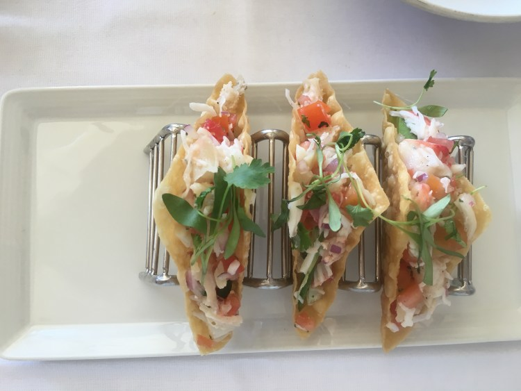 fish tacos at Crab Catcher san diego