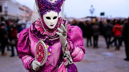 Masks + Gondolas in Venice