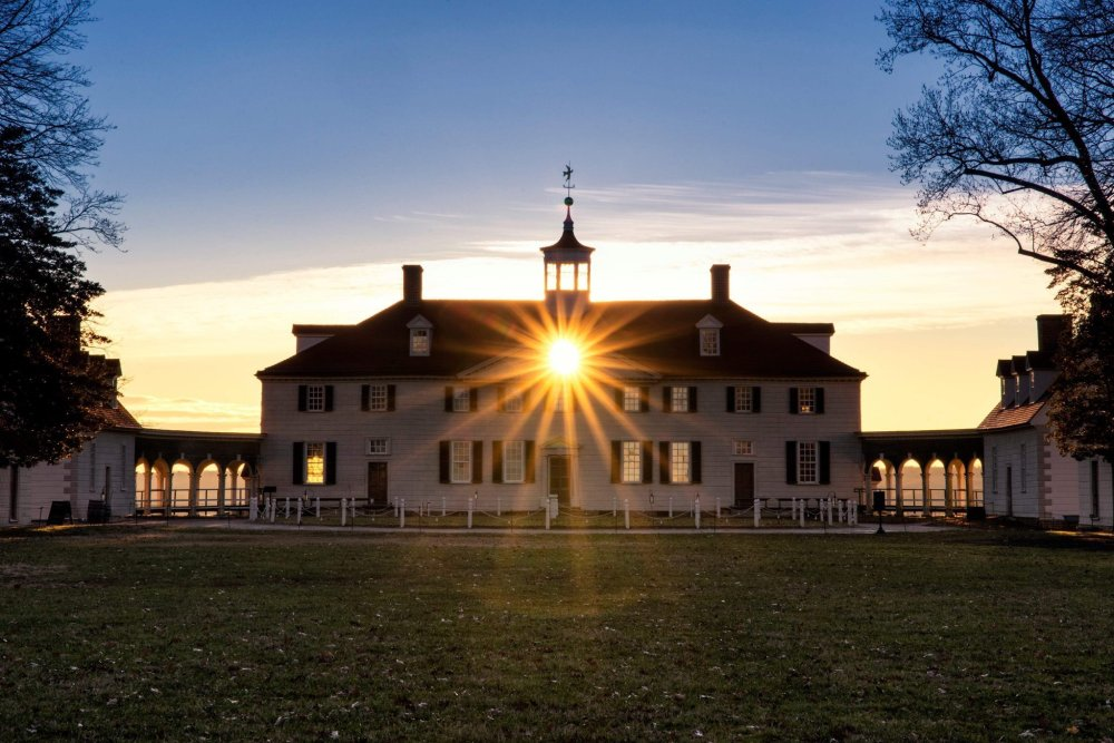 sunset at mount vernon