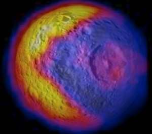Mimas Temperature Map