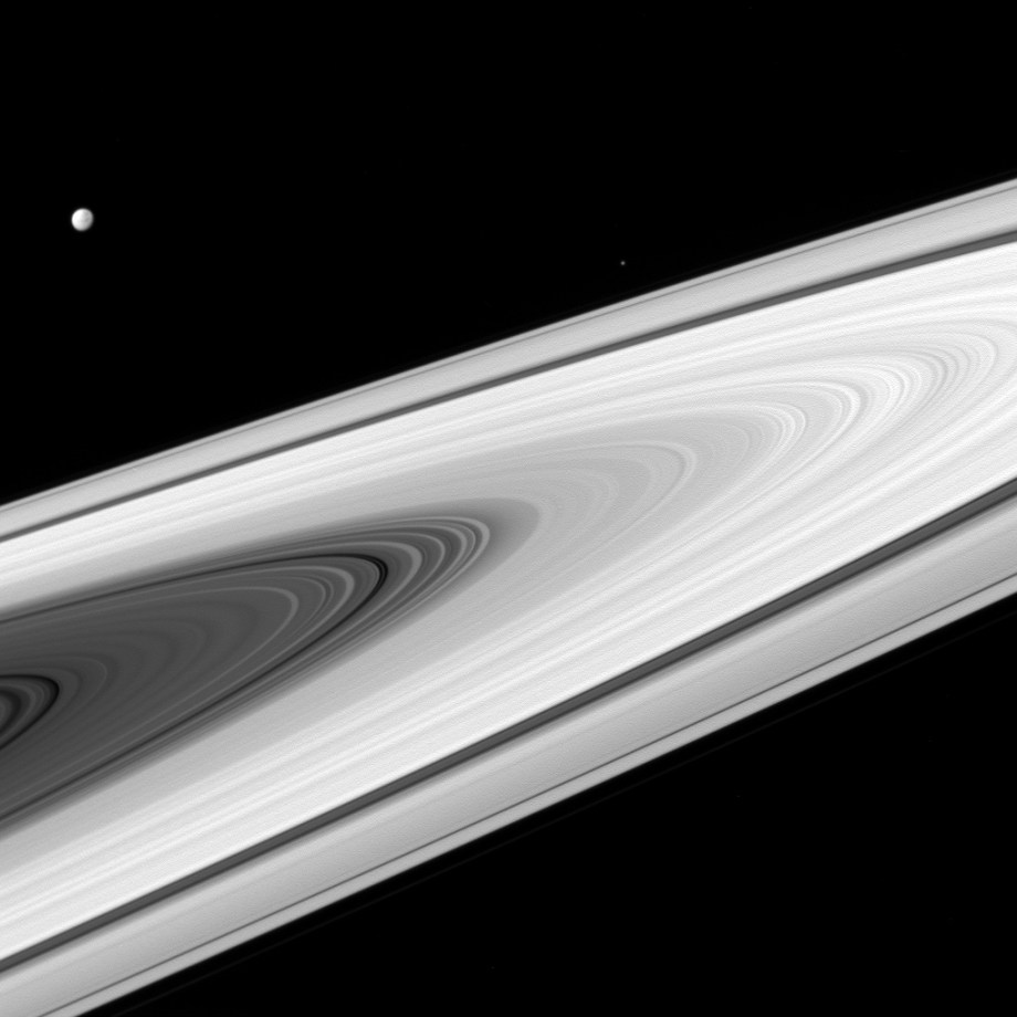 Dione, Epimetheus, and Rings