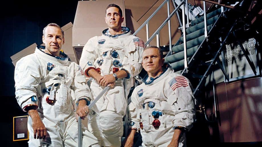 Apollo 8 Crew: Command Module Pilot Jim Lovell, Flight Engineer Bill Anders, and Commander Frank Borman