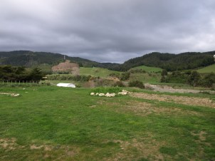 Looking from the house over the farm