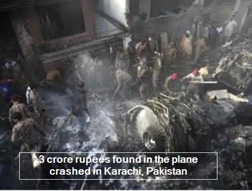 Officials Identify 3Crore Rupees of Unaccounted Money In Crashed Pakistani Flight