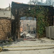 Napa Valley Chateau Boswell winery is pictured after being destroyed by the Glass Fire in California