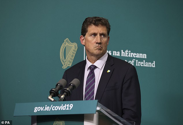 Eamon Ryan (pictured) said he believed the rest of the country could avoid being placed in level three restrictions if the public adhered to the Government's measures