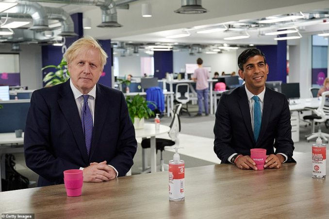 Boris Johnson visited Octopus energy's HQ in London with Rishi on Monday amid swirling rumours of splits