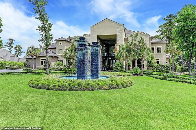 The home sits on two acres of beautifully manicured land in the Carlton Woods community in The Woodlands