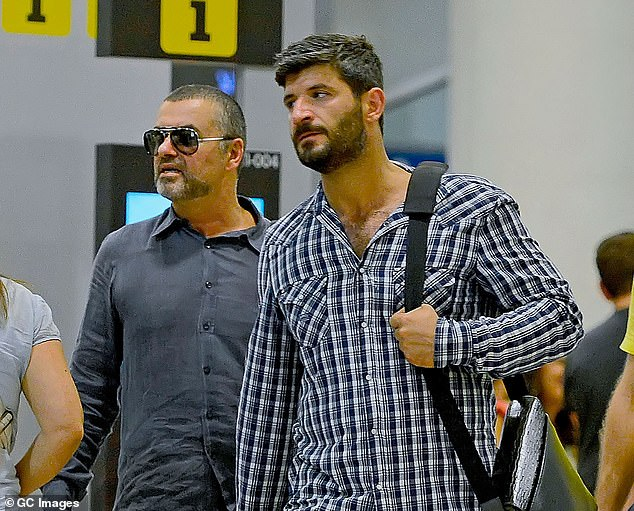 The bulk of the singer's £97.6million fortune went to his sisters Melanie and Yioda, with smaller amounts going to his father Kyriacos and his close friends and former staff. His partner at the time of his death, Fadi Fawaz (right), was also not left anything