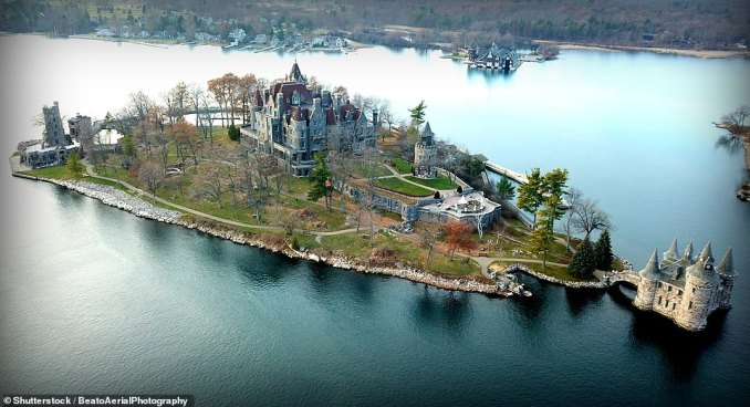 Boldt Castle, pictured, was commissioned by George C. Boldt, a self-made millionaire and the first-ever manager of New York's world-famous Waldorf Astoria Hotel