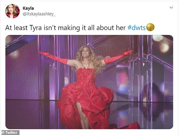 The Tyra show:Devout Dancing With The Stars viewers accused Banks of making the show 'all about her,' due to her frequent comments and her eye-catching ensembles worn during the premiere episode