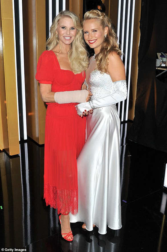Stepping in:Christie Brinkley broke her arm during practice five days before the season 28 premiere of DWTS and was replaced by her daughter Sailor Brinkley-Cook