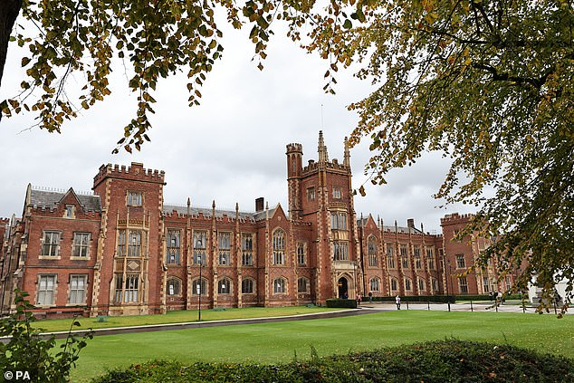 Institutions in Northern Ireland are also bearing the brunt of the crisis, with Queen's University Belfast (pictured) 'closely monitoring' an increase in coronavirus cases