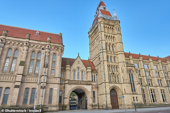 The University of Manchester (pictured) and Manchester Metropolitan University – which have around 73,000 students between them – said teaching would be online-only until at least November
