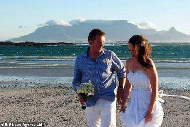 The pair married in Cape Town in South Africa before flying to Dubai for their honeymoon