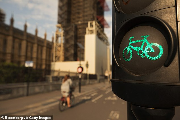 The innovative system, which costs less than £700 to install on each light, is a step up from existing traffic sensors - which struggle to acknowledge the presence of cyclists at all. Pictured: Stock image