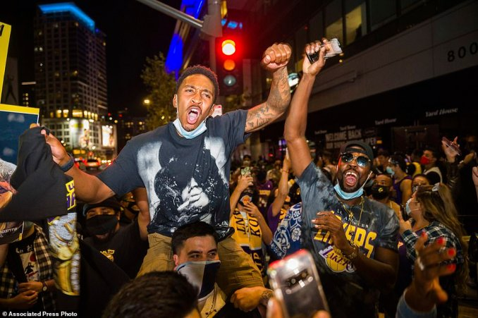 Thousands of people dressed in purple and gold took to the streets to celebrate the franchise's first NBA title since 2010