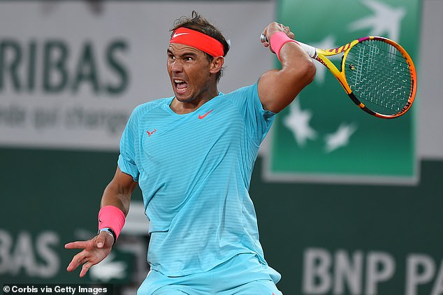 The topspin that Nadal generates on the ball with his forehand is unrivalled in tennis history