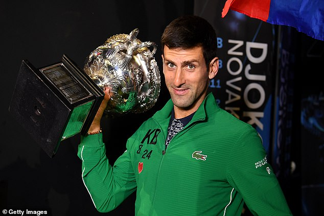 The most recent of Novak Djokovic's 17 Grand Slams was won at the Australian Open this year