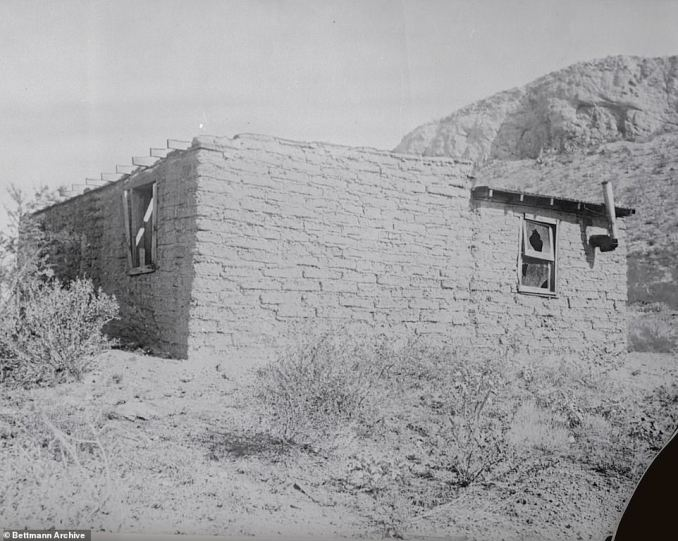 Within days, police began to poke holes at McPherson's implausible story and accused her of manufacturing her own disappearance in order to purse an adulterous affair with a married Angelus Temple colleague. Photograph above depicted the Mexican shack where Sister Aimee McPherson claimed she was held captive for five weeks before she fled her kidnappers by cutting the rope ties around her wrist with a metal can lid and slipping out the back window while they were away