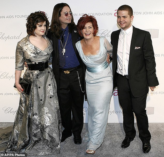 Famous family: The media personality is the daughter of rocker Ozzy and TV judge Sharon Osbourne (pictured together with her younger brother Jack in2007)