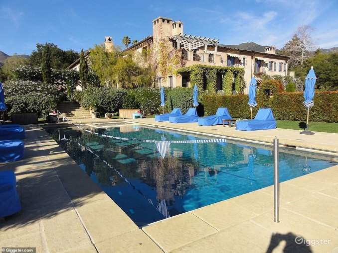 The pool at the Duke and Duchess' home is perfect for entertaining guests, or perhaps as a photo shoot set as it's offered for a minimum 10 hours for $700 an hour
