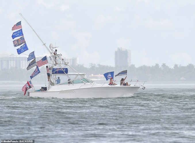 Overcast weather was unable to dampen crowd numbers, with reports saying 'hundreds' of boats participated in the flotilla