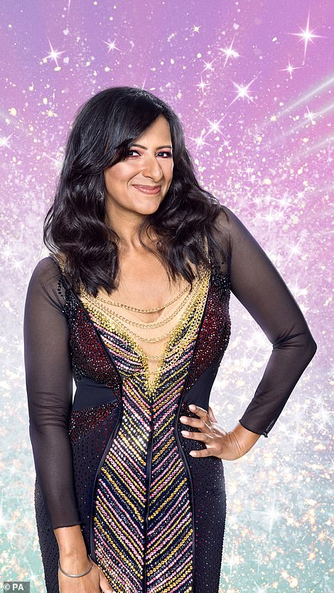 Learning their moves: The launch show on October 17 will see Ranvir, Caroline and co paired up with their professional partners ahead of the first live show a week later