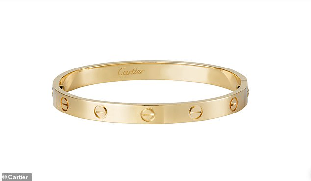 Also on her wrist is a Cartier 'Love' Bracelet worth $6500 (£5,031)