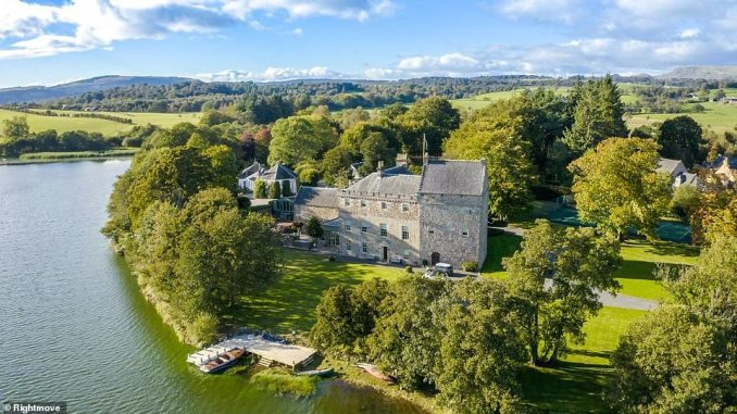 For property buyers with more stately tastes, Bardowie Castle in Scotland on the shores of a loch might hit the mark