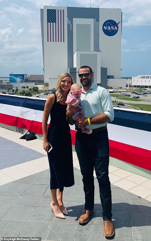 McEnany's daughter, Blake Avery Gilmartin, is from her marriage to professional baseball player Sean Gilmartin. The family is pictured above in May