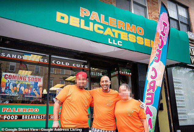 Jose Yeje is pictured outside the Palermo Delicatessen in Glendale, Queens