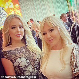 Pictured: Elvira Grau photographed with Tiffany Trump