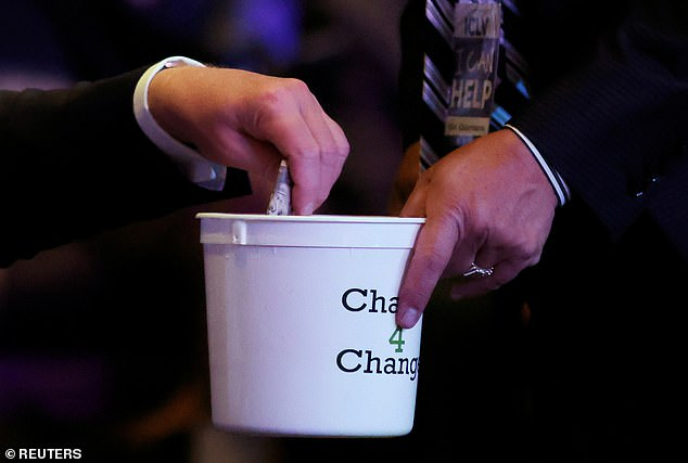 President Donald Trump was caught putting a wad of cash into the International Church of Las Vegas' donation bucket