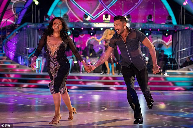 Good Morning Britain presenter Ranvir Singh dancing with partner Giovanni Pernice