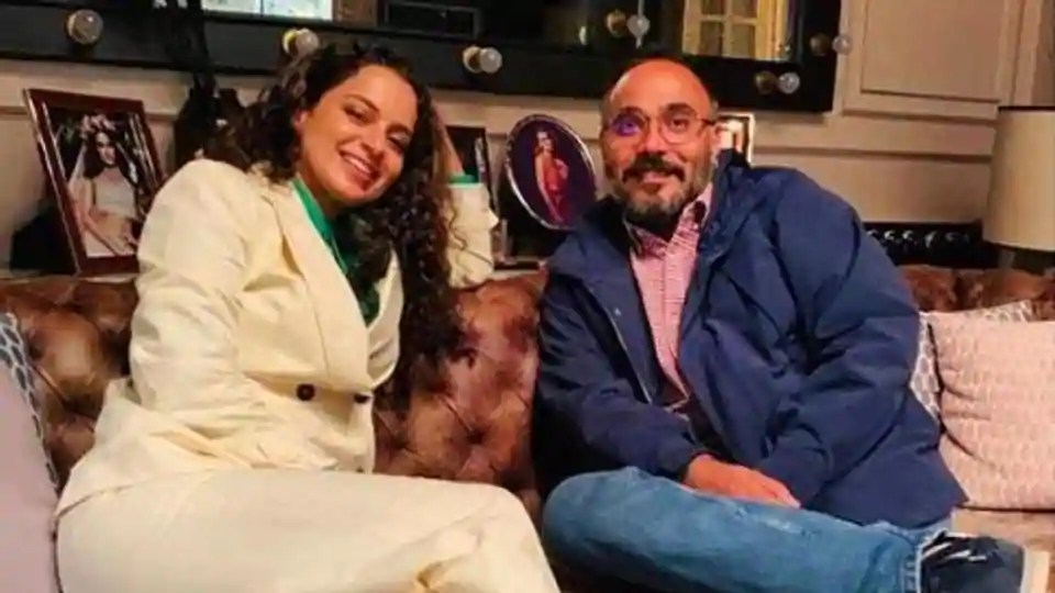 Kangana Ranaut's prep for her film Tejas is all about discussing work over 'delicious home-made food', see pics with director, team